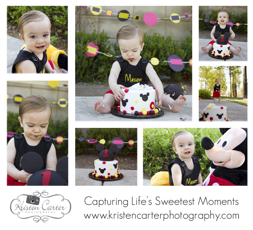 Kristen Carter Photography Mickey Mouse Cake Smash Scottsdale AZ First Birthday.jpg