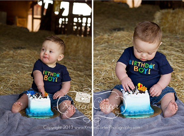 Myles First Birthday Cake Smash Kristen Carter Photography Gilbert AZ 4.jpg