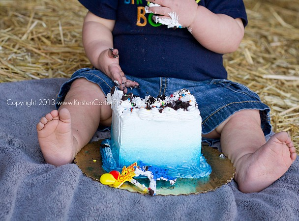 Myles First Birthday Cake Smash Kristen Carter Photography Gilbert AZ 6.jpg