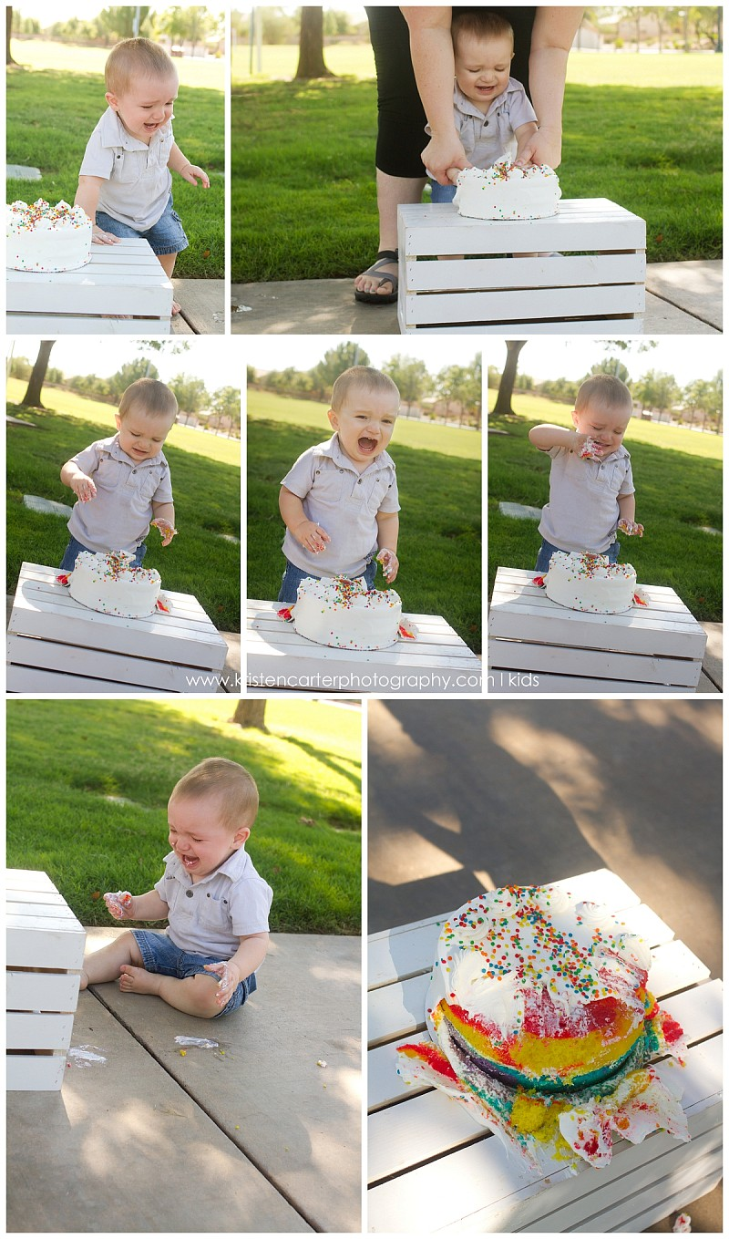 Queen Creek AZ Birthday Children Cozy Coupe Cake Smash Kristen Carter Photography_0107.jpg