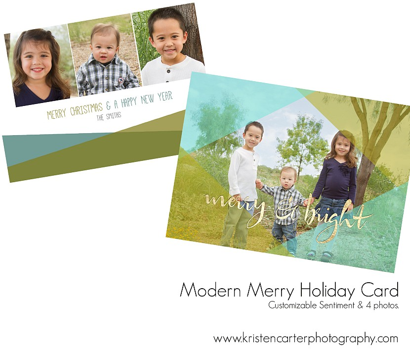 Modern Merry Preview Holiday Card Kristen Carter Photography Gilbert AZ.jpg