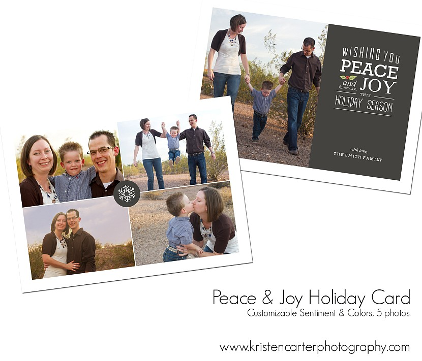 Peace n Joy Preview Holiday Card Kristen Carter Photography Gilbert AZ.jpg