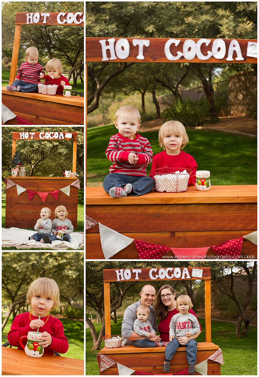 Brothers and Marshmallows, Gilbert AZ Hot Cocoa Session Kristen Carter Photography