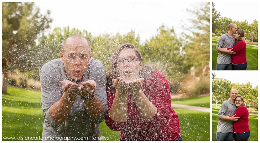Family Fake Snow Photo Gilbert AZ Hot Cocoa Session Kristen Carter Photography
