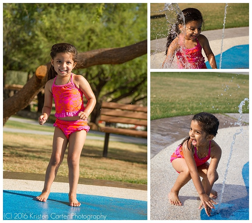 Child Photographer Gilbert AZ Splash Pad Fun
