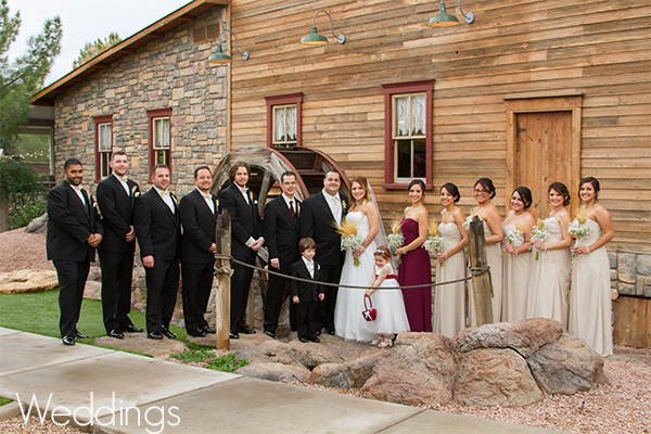 Shenandoah Mill Wedding Party Gilbert AZ