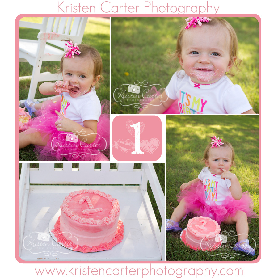 Kristen Carter Photography Square Cake Smash Pink Tutu