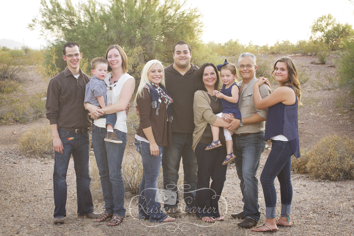Kristen Carter Photography- Tempe AZ Extended Family Session Papago Park