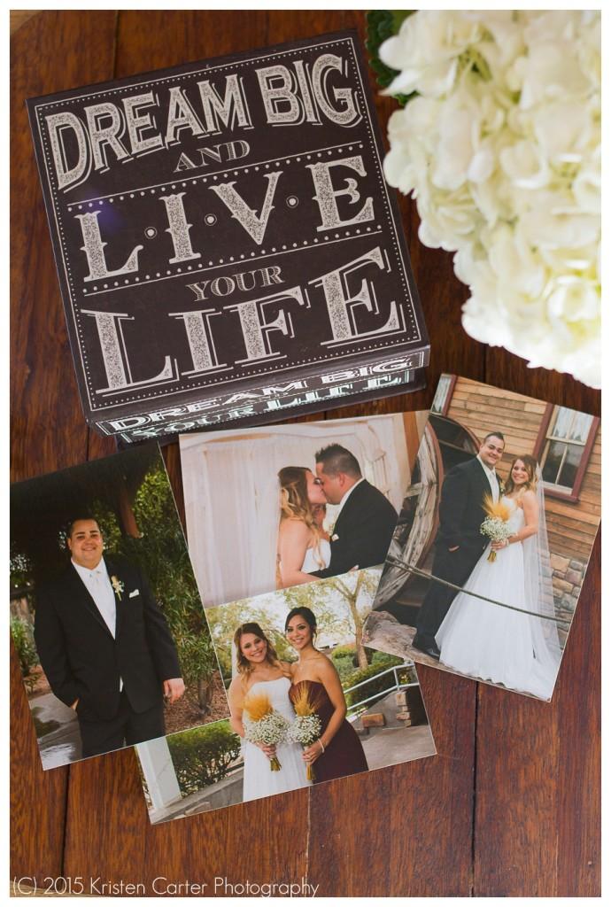 Gilbert AZ Wedding Prints Sample Display Kristen Carter Photography