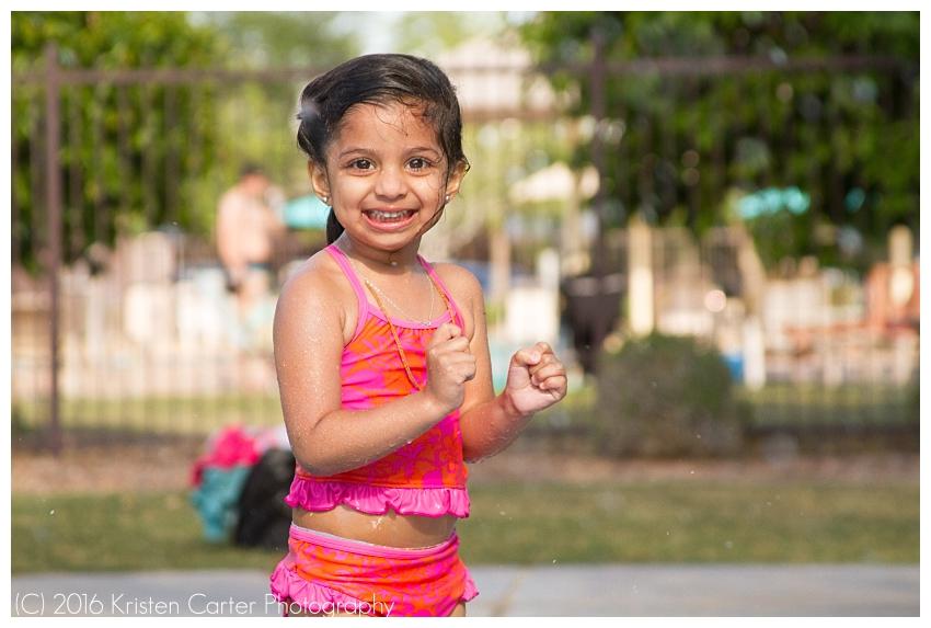 Splash Pad Photographer Gilbert AZ Kristen Carter Photography