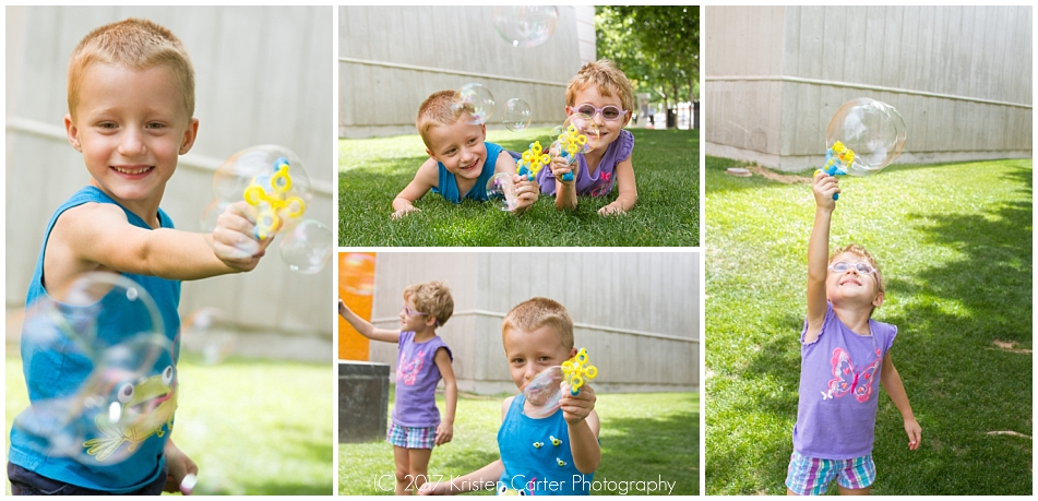 Candid kid photos with bubbles at Mesa Arts Center