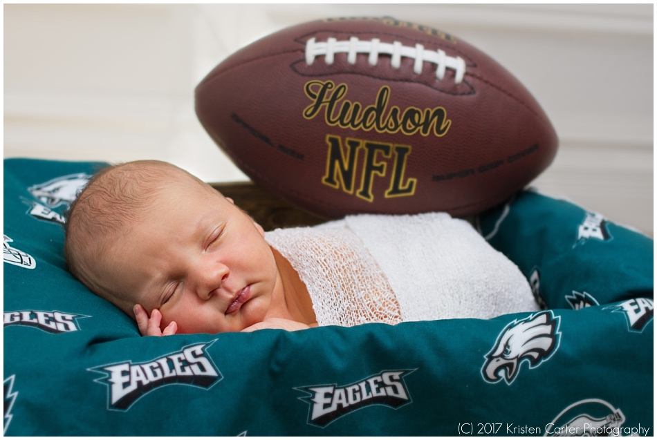 Football Newborn Photos in Gilbert AZ