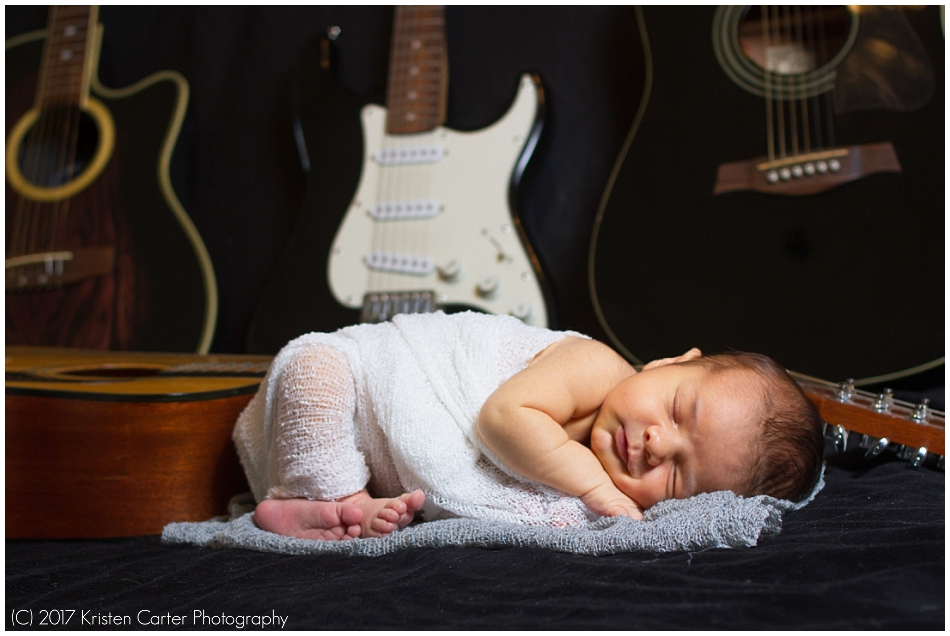 Newborn Photos with Guitars