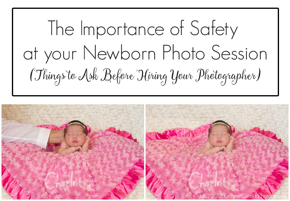 Newborn Safety Photo Session Composite Retouching