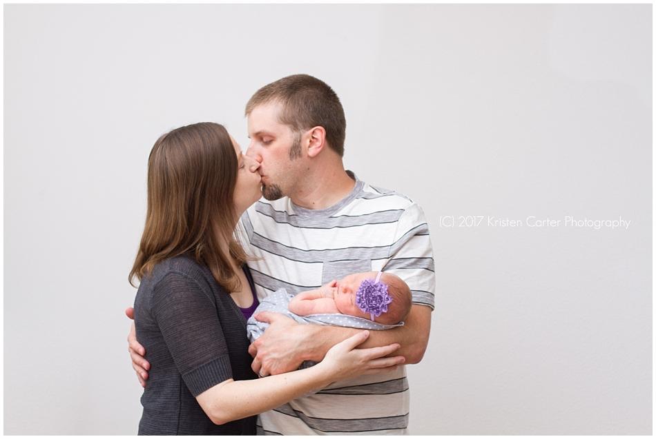 Newborn with Parent Pose Gilbert AZ Photographer