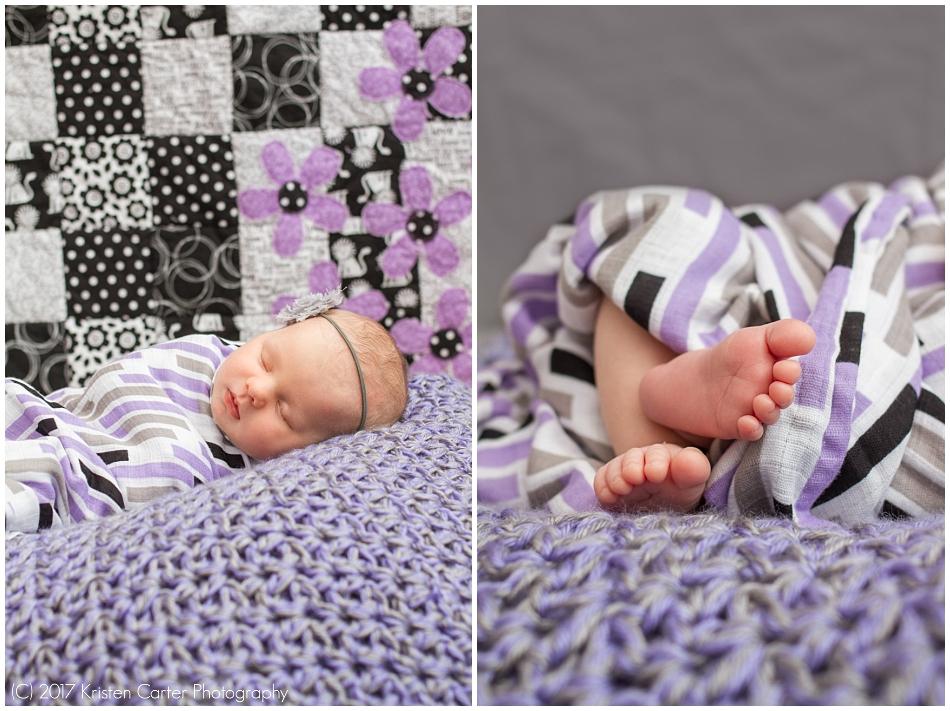 Baby on Purple Blankets Gilbert AZ