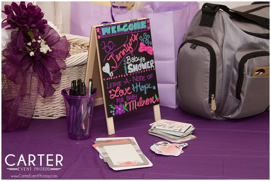 Purple Baby Shower Decor Ideas